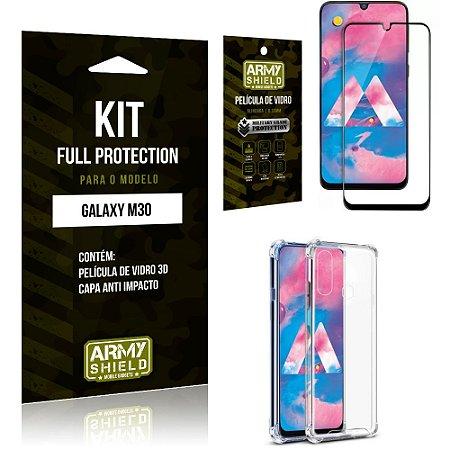 Kit Full Protection Samsung M30 Capa Anti Impacto + Película de Vidro 3D - Armyshield