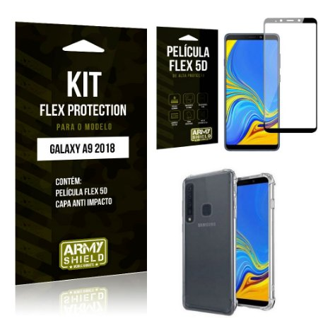 Kit Flex Protection Samsung A9 18 Capa Anti Impacto + Película Flex 5D - Armyshield
