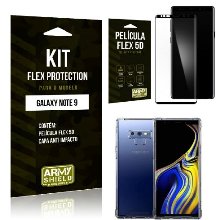 Kit Flex Protection Samsung Note 9 Capa Anti Impacto + Película Flex 5D - Armyshield