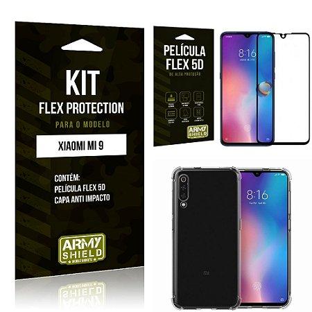 Kit Flex Protection Xiaomi MI 9 Capa Anti Impacto + Película Flex 5D - Armyshield