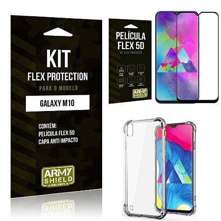 Kit Flex Protection Samsung M10 Capa Anti Impacto + Película Flex 5D - Armyshield