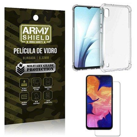 Kit Anti Impacto Galaxy A10 Capinha Anti Impacto + Película de Vidro - Armyshield