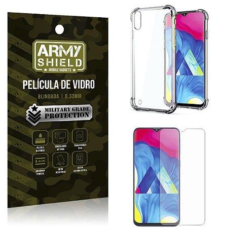 Kit Anti Impacto Galaxy M10 Capinha Anti Impacto + Película de Vidro - Armyshield