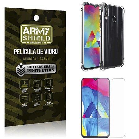 Kit Anti Impacto Galaxy M20 Capinha Anti Impacto + Película de Vidro - Armyshield