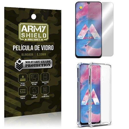 Kit Anti Impacto Galaxy M30 Capinha Anti Impacto + Película de Vidro - Armyshield