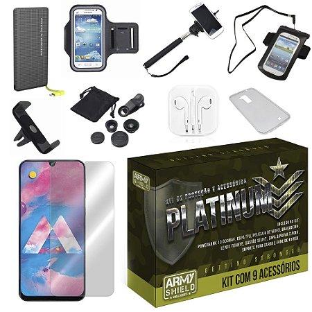 Kit Platinum Tipo C Galaxy M30 com 9 Acessórios - Armyshield