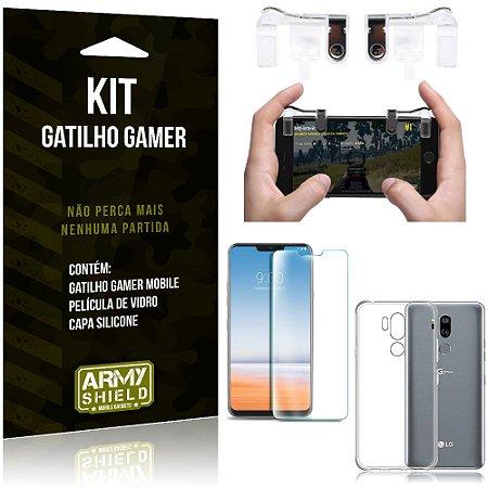 Gatilho Gamer LG G7 Gatilho + Capa Silicone + Película Vidro - Armyshield