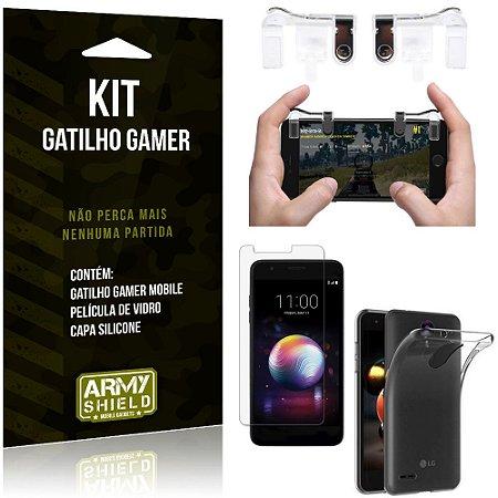 Gatilho Gamer LG K11 Plus Gatilho + Capa Silicone + Película Vidro - Armyshield