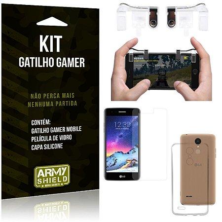 Gatilho Gamer LG K8 Novo Gatilho + Capa Silicone + Película Vidro - Armyshield