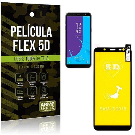 Película Indestrutível Flex Galaxy J6 (2018) Não trinca e cobre a tela toda - Armyshield