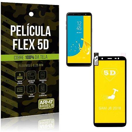 Película Indestrutível Flex Galaxy J8 (2018) Não trinca e cobre a tela toda - Armyshield