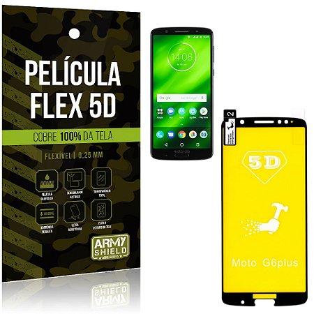 Película Indestrutível Flex Motorola Moto G6 Plus Não trinca e cobre a tela toda - Armyshield