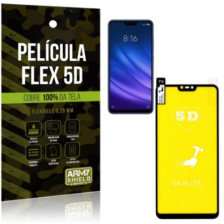 Película Indestrutível Flex Xiaomi Mi 8 Lite Não trinca e cobre a tela toda - Armyshield