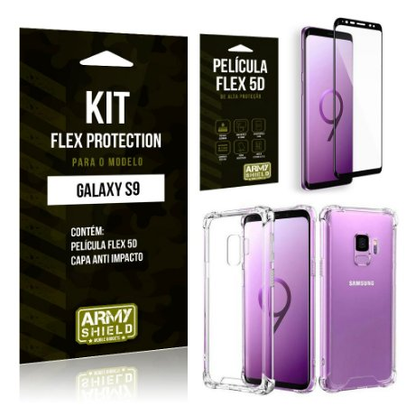 Kit Flex Protection Samsung S9 Capa Anti Impacto + Película Flex 5D - Armyshield