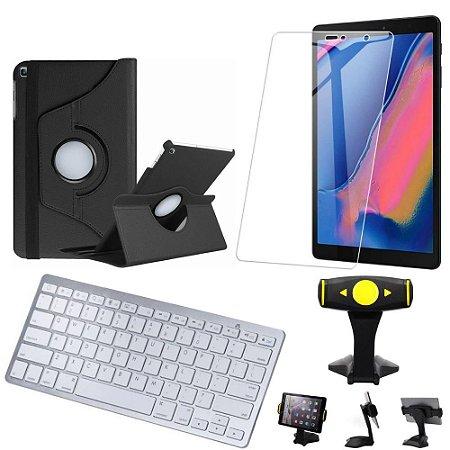 Capa Giratória Samsung Tab A S Pen 8.0 P205/P200  + Película + Teclado +Suporte+Caneta - Armyshield
