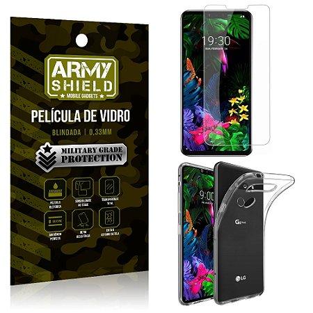 Kit Capa Silicone LG G8S Capa Silicone + Película de Vidro - Armyshield