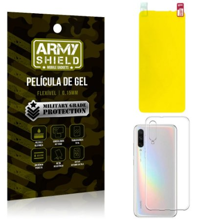 Kit Película de Gel Xiaomi Mi A3 (CC9e) Película de Gel + Capa Silicone - Armyshield