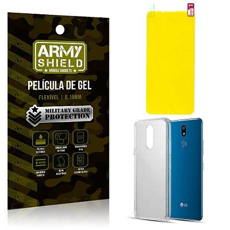 Kit Película de Gel LG K12 Max Película de Gel + Capa Silicone - Armyshield