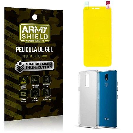 Kit Película de Gel LG K12 K12 Plus Película de Gel + Capa Silicone - Armyshield