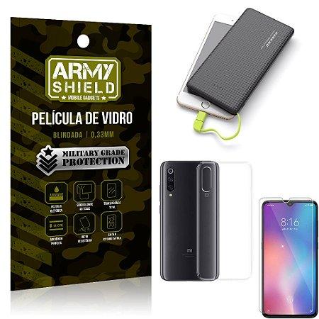 Kit Powerbank 10K Tipo C Xiaomi Mi 9 SE Capa + Película Vidro + Powerbank 10000 mAh - Armyshield
