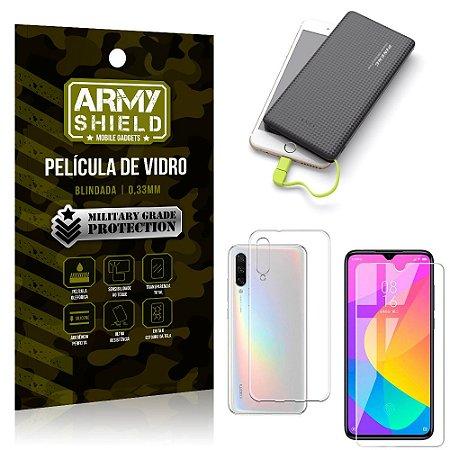 Kit Powerbank 10K Tipo C Xiaomi Mi A3 (CC9e) Capa + Película Vidro +Powerbank 10000 mAh - Armyshield