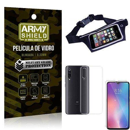 Kit Pochete Xiaomi Mi 9 SE Pochete + Película de Vidro + Capa Silicone - Armyshield
