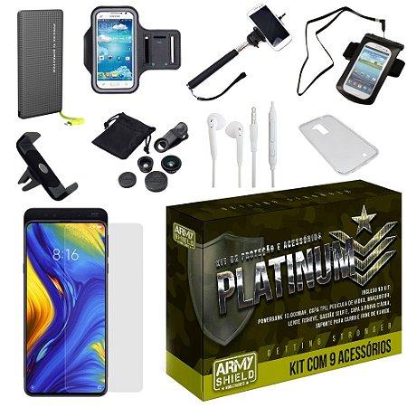 Kit Platinum Tipo C Xiaomi Mi Mix 3 com 9 Acessórios - Armyshield