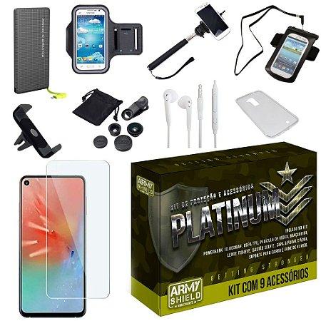 Kit Platinum Tipo C Samsung A60 com 9 Acessórios - Armyshield