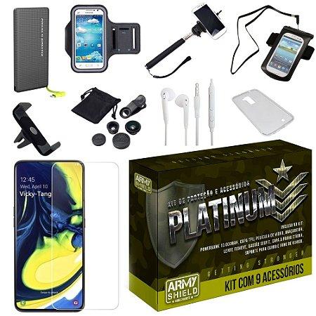 Kit Platinum Tipo C Samsung A80 com 9 Acessórios - Armyshield