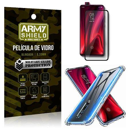 Kit Full Protection Xiaomi Redmi K20 Mi 9T Película de Vidro 3D + Capa Anti Impacto - Armyshield