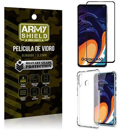 Kit Full Protection Samsung A60 Película de Vidro 3D + Capa Anti Impacto - Armyshield
