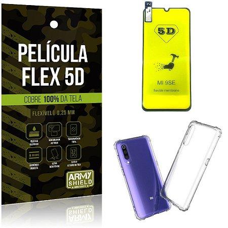 Kit Flex Protection Xiaomi Mi 9 SE Película Flex 5D Tela Toda + Capa Anti Impacto - Armyshield
