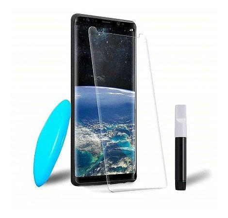 Película de Vidro Curvada Cola Líquida UV Samsung Galaxy S8