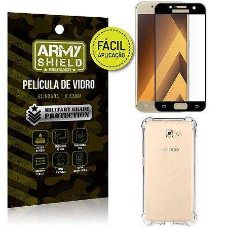 Kit Película 3D Fácil Aplicação Galaxy A5 (2017) Película 3D + Capa Anti Impacto - Armyshield
