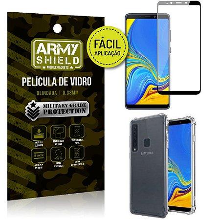 Kit Película 3D Fácil Aplicação Galaxy A9 (2018) Película 3D + Capa Anti Impacto - Armyshield