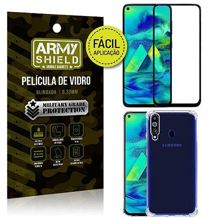 Kit Película 3D Fácil Aplicação Samsung Galaxy M40 Película 3D + Capa Anti Impacto - Armyshield