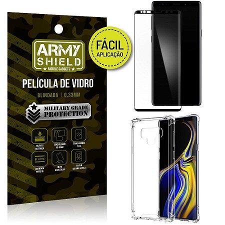 Kit Película 3D Fácil Aplicação Samsung Galaxy Note 9 Película 3D + Capa Anti Impacto - Armyshield