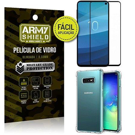 Kit Película 3D Fácil Aplicação Galaxy S10e Película 3D + Capa Anti Impacto - Armyshield