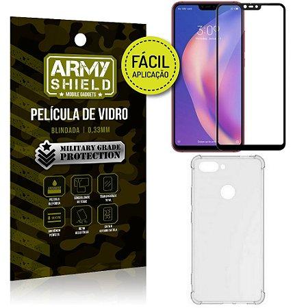 Kit Película 3D Fácil Aplicação Xiaomi Mi 8 Lite Película 3D + Capa Anti Impacto - Armyshield