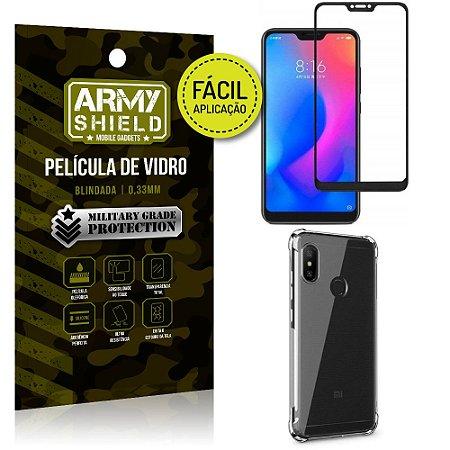 Kit Película 3D Fácil Aplicação Xiaomi Mi A2 Lite (6 Pro) Película +Capa Anti Impacto -Armyshield