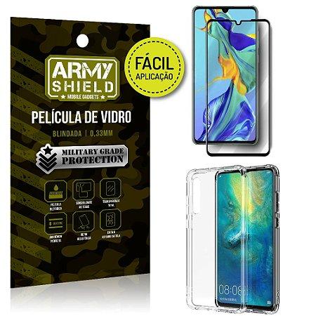 Kit Película 3D Fácil Aplicação Huawei P30 Película 3D + Capa Anti Impacto - Armyshield