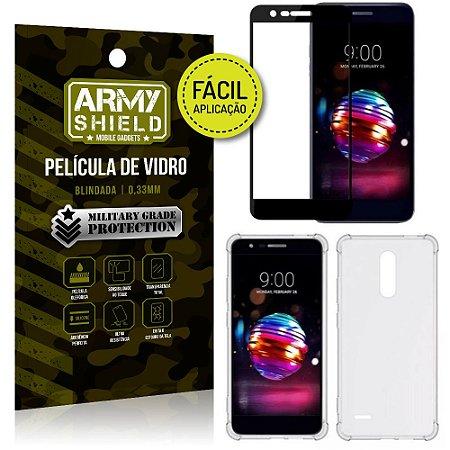 Kit Película 3D Fácil Aplicação LG K11 Plus Película 3D + Capa Anti Impacto - Armyshield