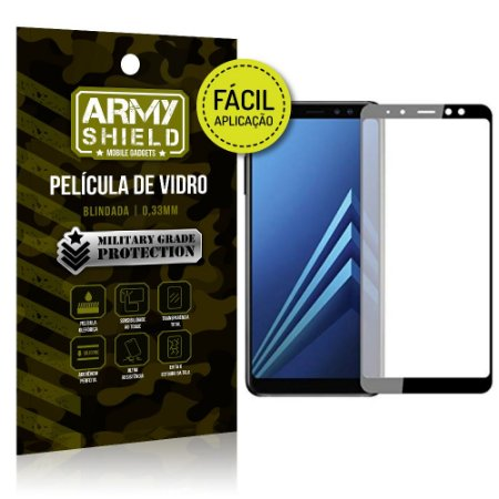 Película 3D Fácil Aplicação Samsung Galaxy A8 Película 3D - Armyshield