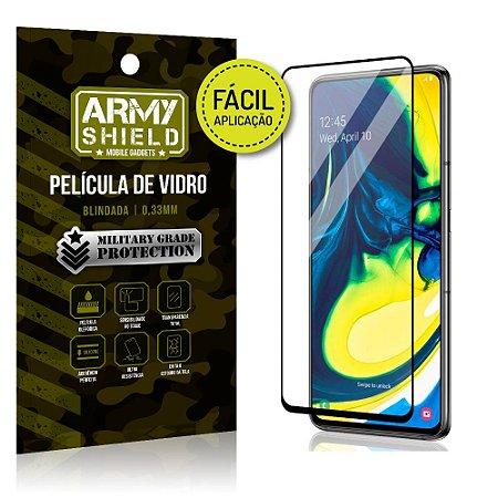 Película 3D Fácil Aplicação Samsung Galaxy A80 Película 3D - Armyshield