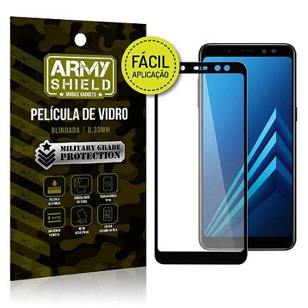 Película 3D Fácil Aplicação Samsung Galaxy A8 Plus Película 3D - Armyshield