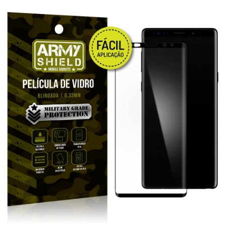 Película 3D Fácil Aplicação Samsung Galaxy Note 9 Película 3D - Armyshield