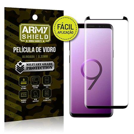 Película 3D Fácil Aplicação Samsung Galaxy S9 Plus Película 3D - Armyshield
