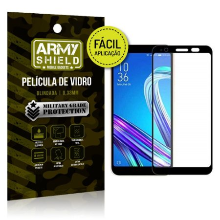 Película 3D Fácil Aplicação Zenfone Live L1 ZA550KL - Armyshield