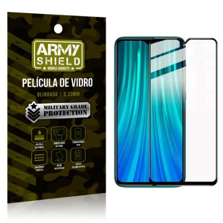 Película de Vidro 3D Tela Toda Redmi Note 8 - Armyshield