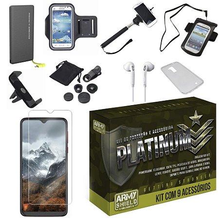 Kit Platinum Tipo C Moto G8 Play com 9 Acessórios - Armyshield